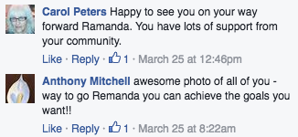 The community shows support to its members through the MCPEI employment Facebook group.