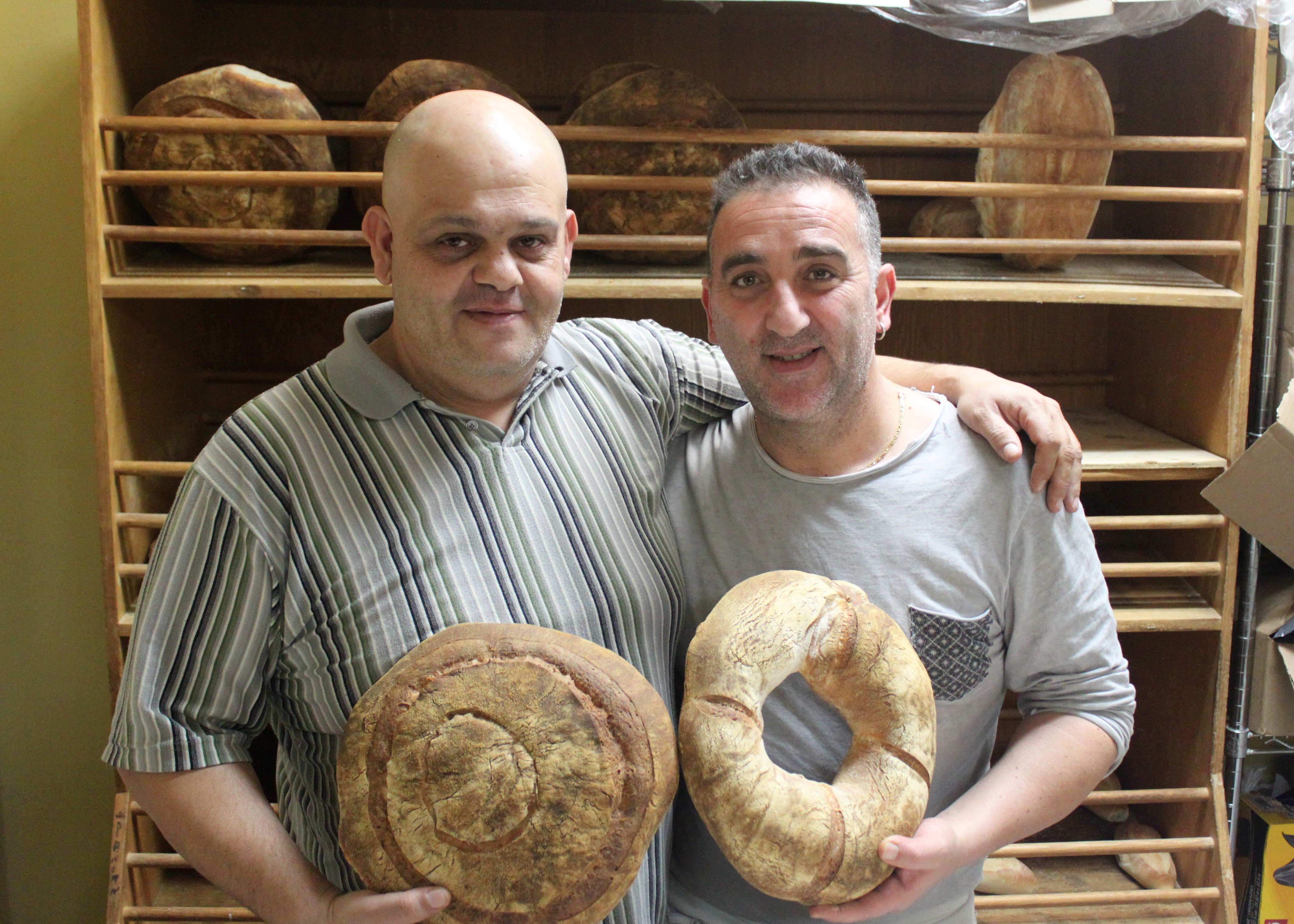 Massimo Marti, 43, and Ottavio Formica, 44, work from dusk until dawn making all assortments of bread. Source: Peter Rukavina