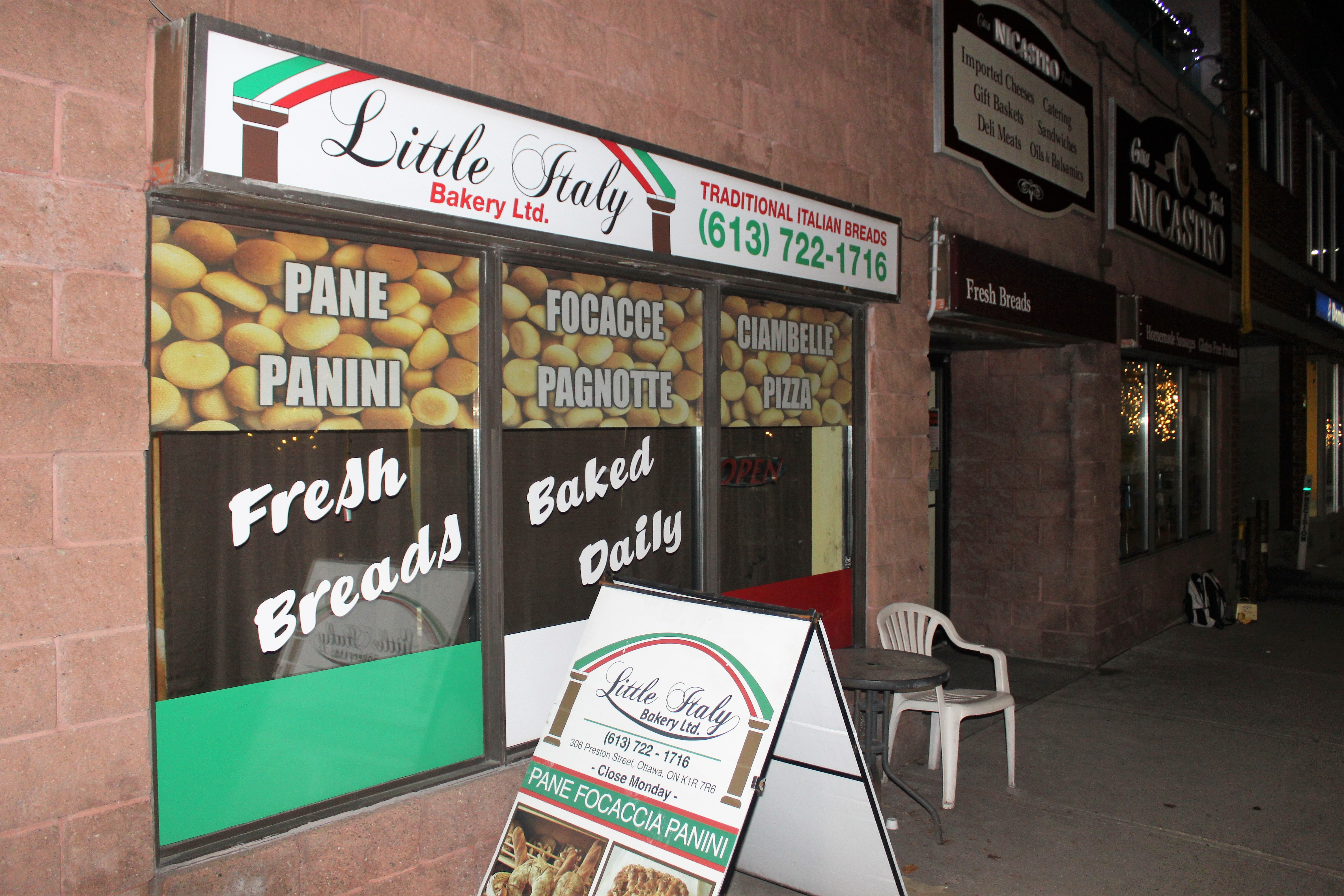Many have walked through the doors of Little Italy Bakery, including health and food inspectors that often flag the business as being in violation. Source: Peter Rukavina